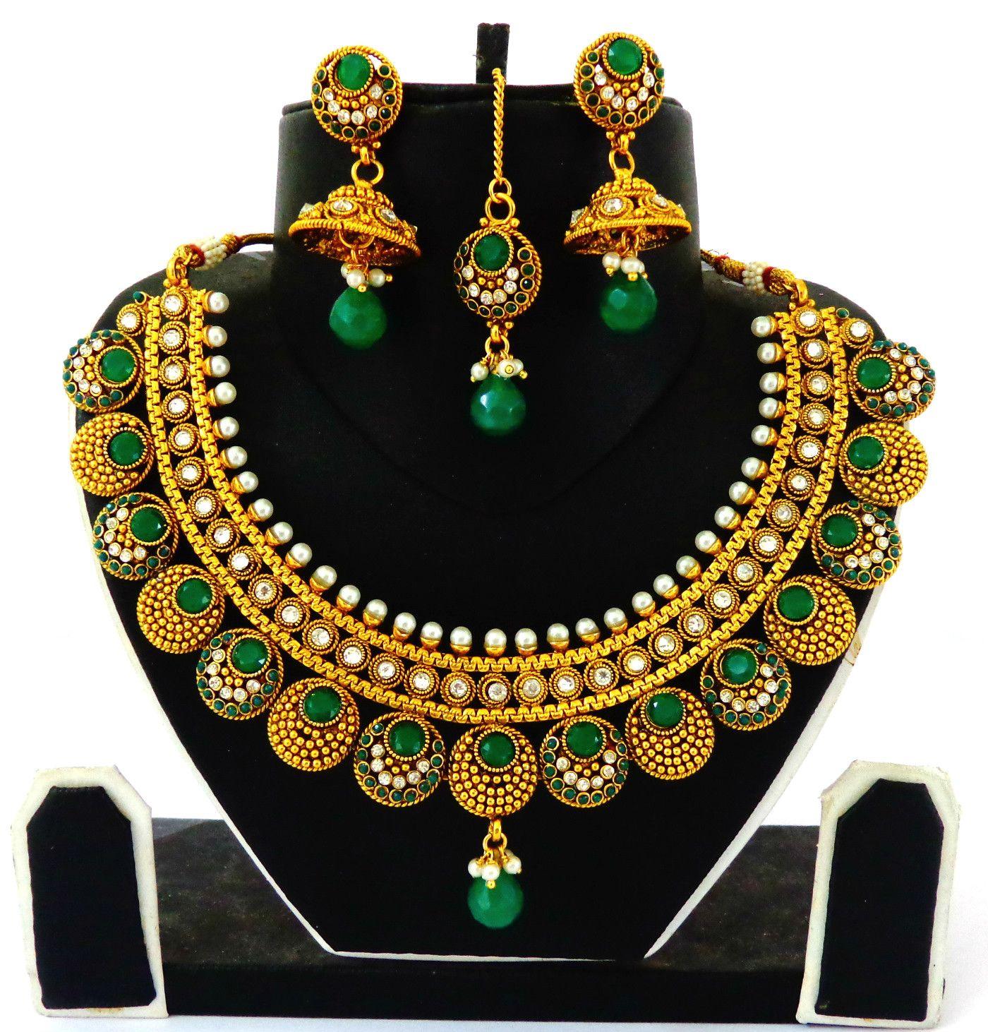 South indian one gram gold necklace visit aftnfashion