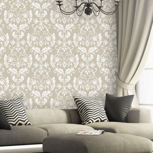 Wall Stencil Large Damask Leonard Stencils Better Than Wallpaper for DIY Decor | eBay