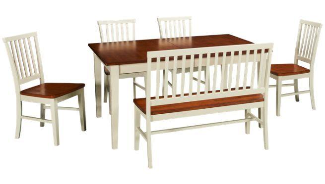 Intercon Arlington 6 Piece Dining Set Jordan S Furniture