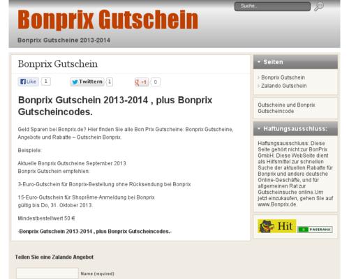 Bonprix Gutschein 2013-2014 , plus Bonprix Gutscheincodes. Geld ...