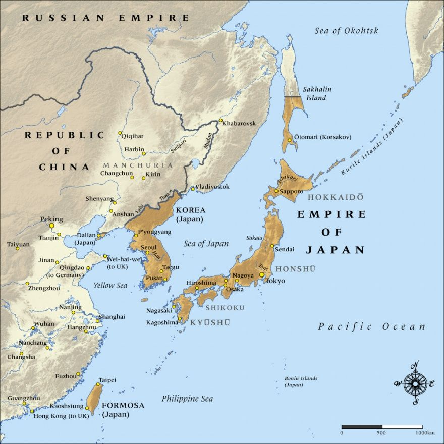 Map Of The Empire Of Japan In NZHistory New Zealand - Japan map 1920