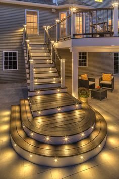 trex outdoor lighting and stair raiser lights can help your party rh pinterest com