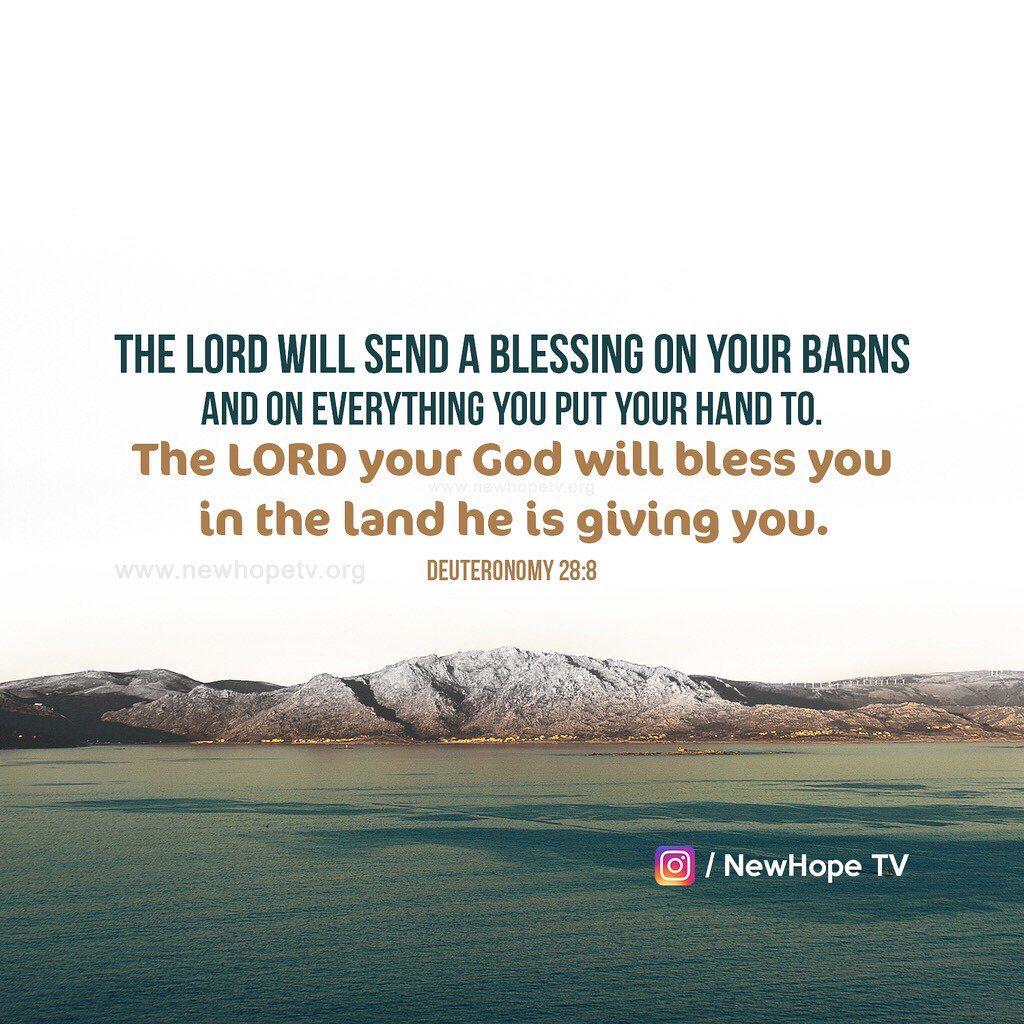 Deuteronomy 28 8 Prayer For You Faith Scripture Blessed