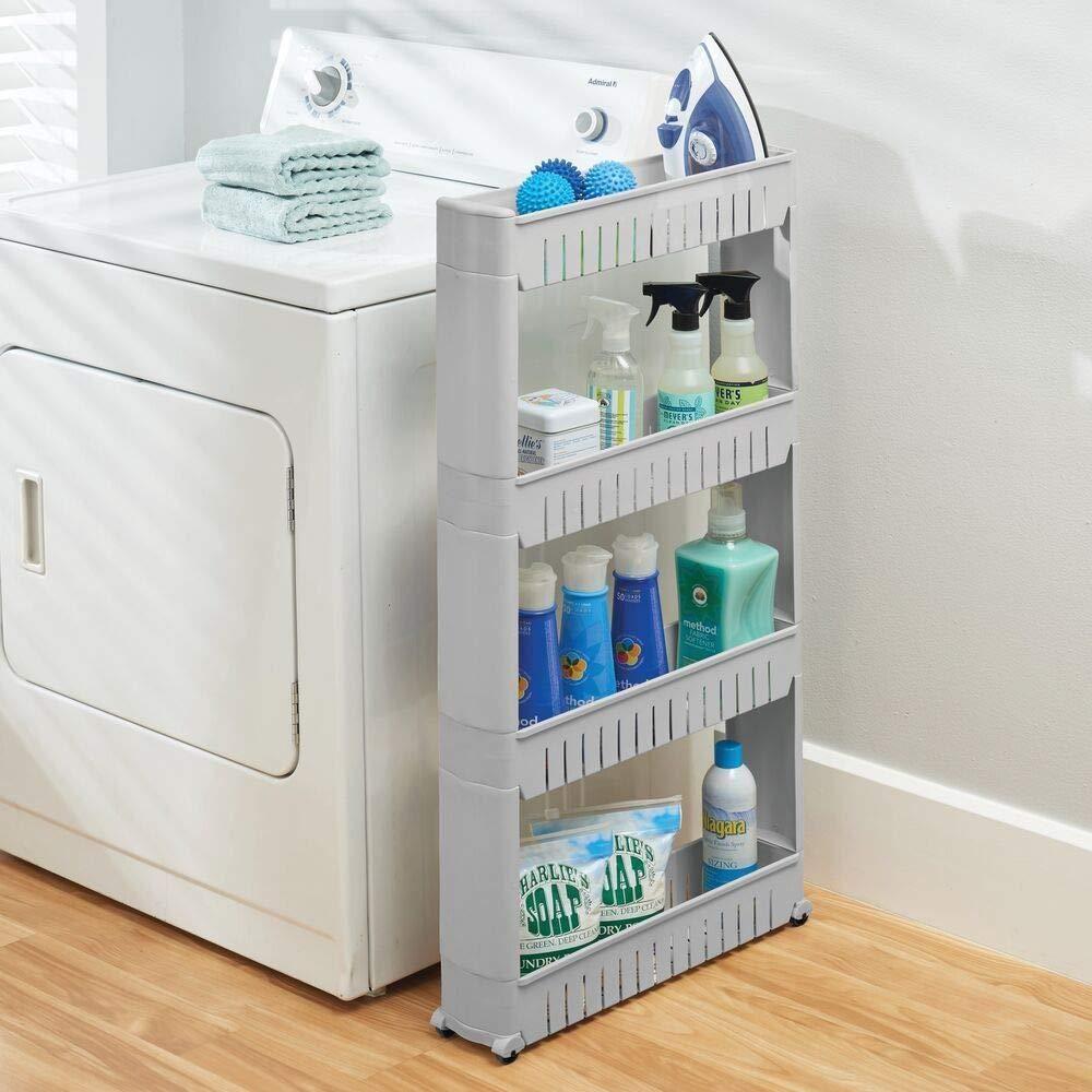 Slim Rolling Slide Out Kitchen Bath Or Laundry Storage Cabinet