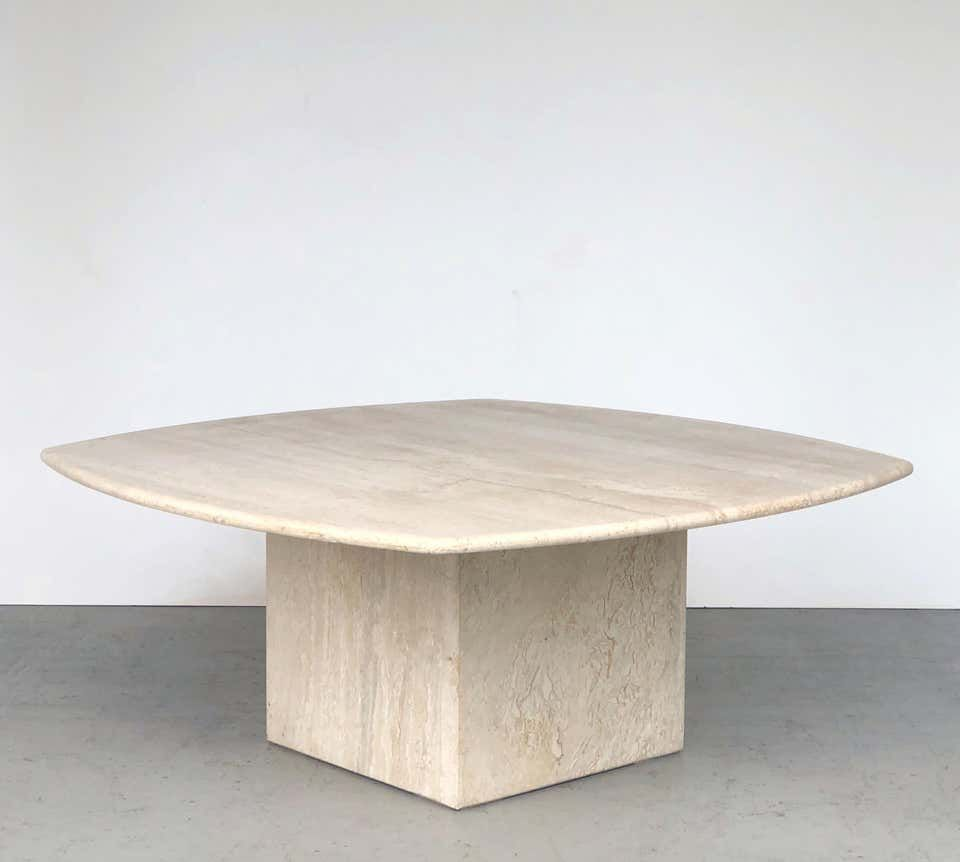 Travertine Italian Coffee Table Style Of Angelo Mangiarotti 1970s Coffee Table Styling Coffee Table Vintage Table Style [ 862 x 960 Pixel ]