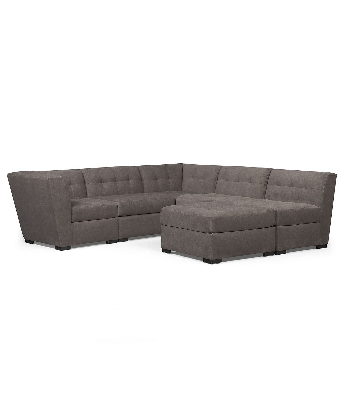 Best Roxanne Fabric Modular Sectional Sofa 6 Piece 2 Square 640 x 480