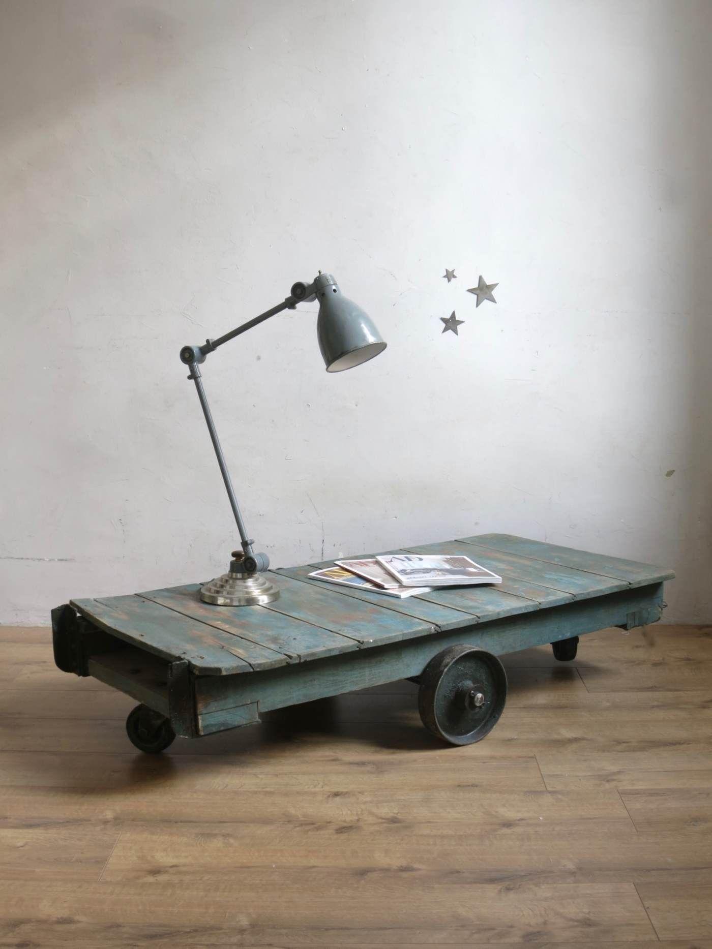 Chariot Sncf Tables Mobilier Www Cestvintage Com Meuble De Metier Mobilier De Salon Table Basse Industrielle