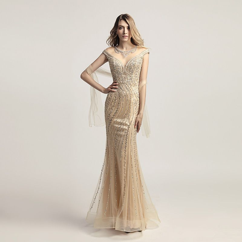 Luxury Beading Crystal Celebrity Dresses