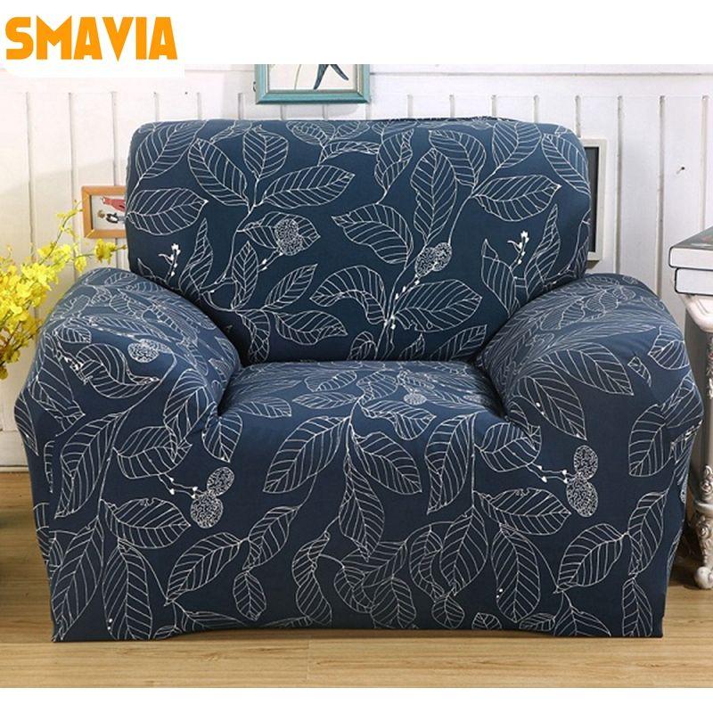 Smavia Fashion Recliner Sofa Cover Polyester Stretch Elasticity Sofa Towel Single Chair Love Seat L Shaped Non Slip Sofa Covers Corner Sofa Covers Printed Sofa