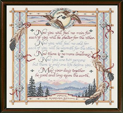 click here to view larger image of apache wedding blessing counted cross stitch kit