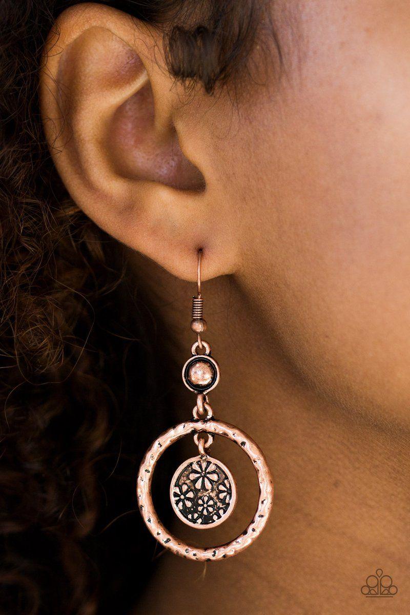 Photo of Paparazzi Meadow Gardens – Earrings Copper Box 38