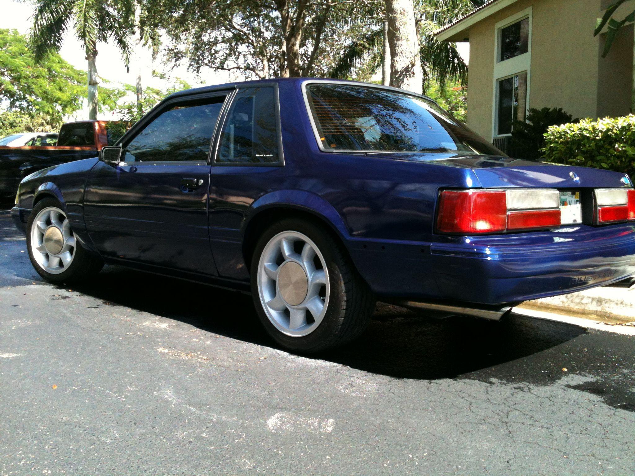 87 Notchback Coupe 5 0 Vortech Supercharged Fresh Blue Sapphie Paint