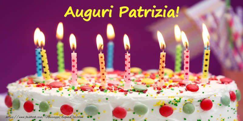 Torta Compleanno Patrizia.Cartoline Di Compleanno Auguri Patrizia Cartolina Di