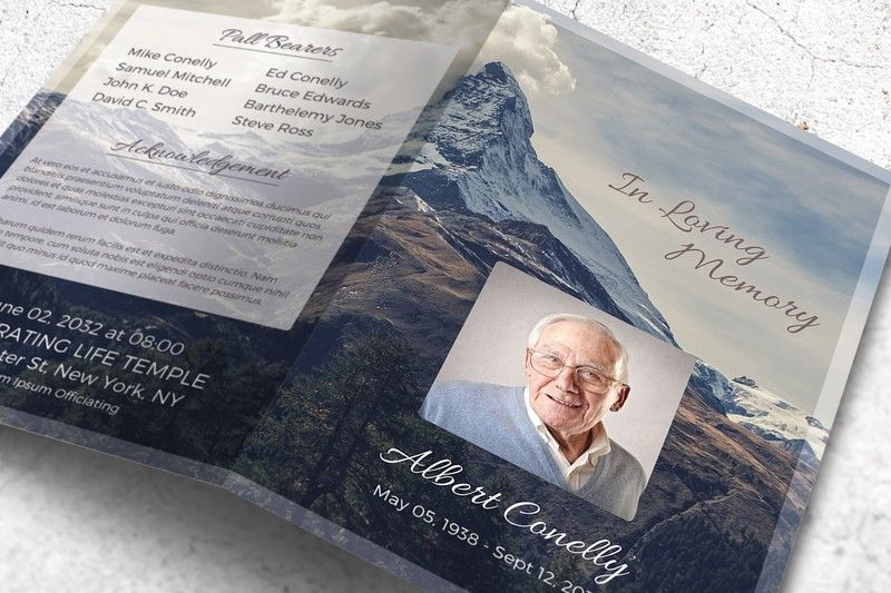 MS Word Funeral Brochure Template Brochure Template Word Format - brochure template on word