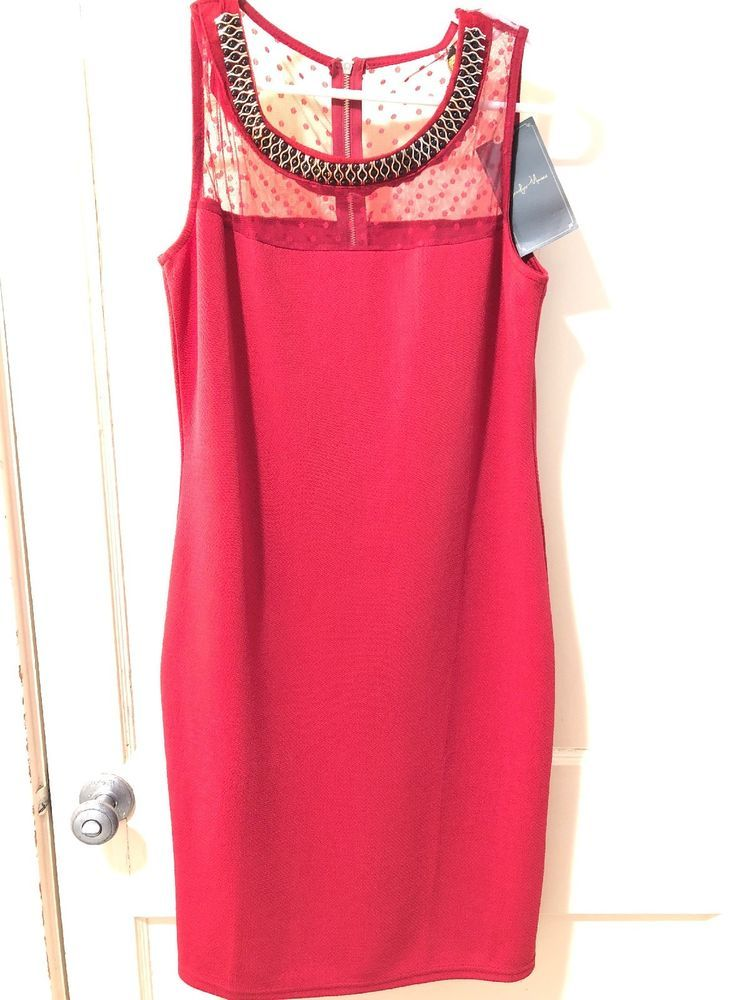 NEW Womens Red Party Dress #fashion #clothing