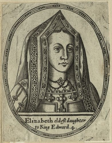 Photo of Queen Elizabeth of York, daughter of King Edward IV, mother of Henry VIII, Arthur, Margaret, and Mary Tudor