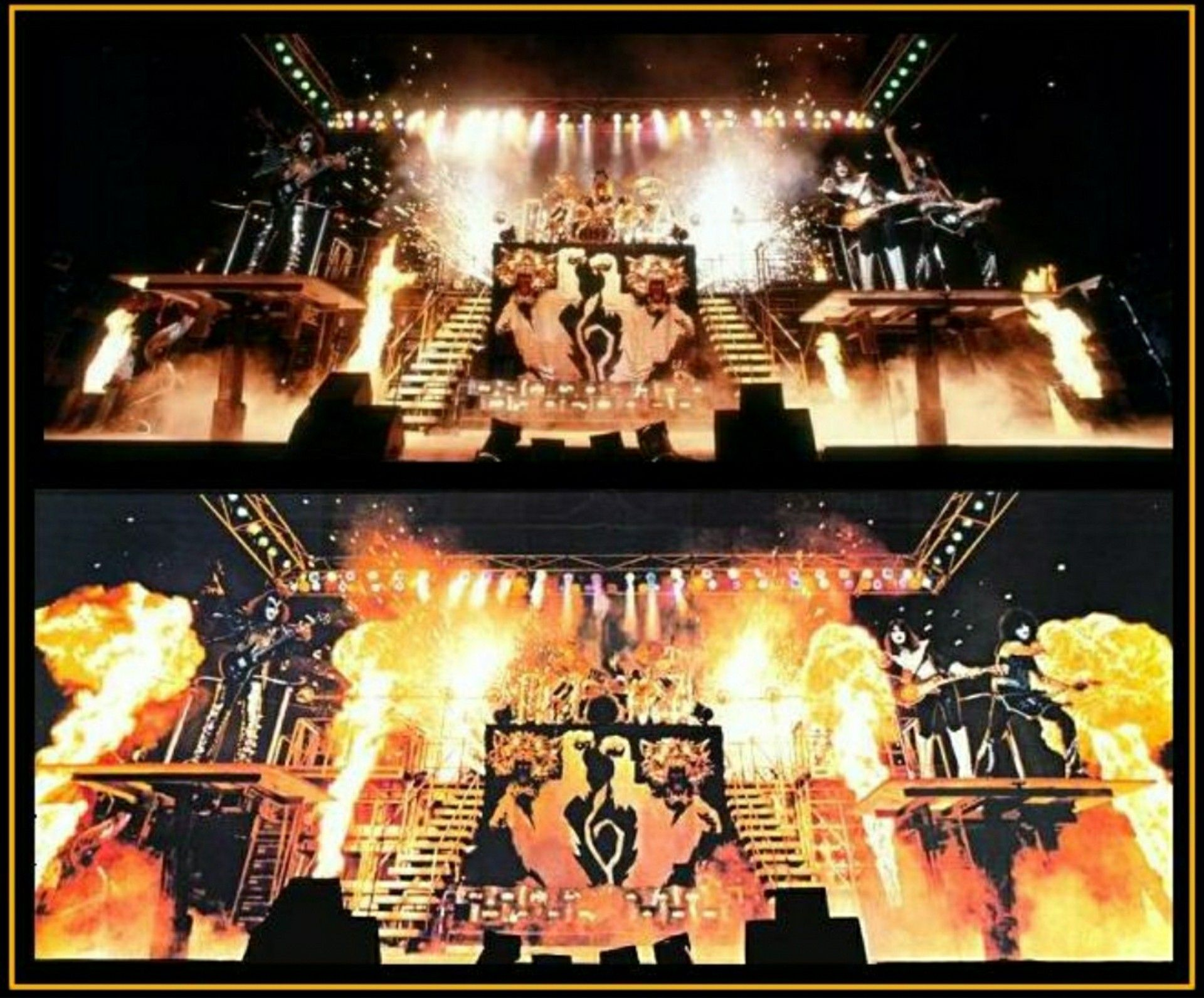 Kiss Alive Ii Gatefold Real And Edited With Images Kiss Band