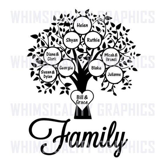 Family Tree Templates Bundle Svg Dxf Png Eps Digital