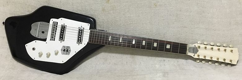 Bizarro 1960s Kingston 12-string solidbody electric guitar