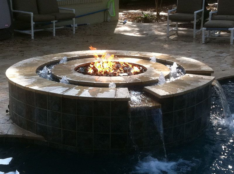 Hpc Has A Beautiful Way Of Combining Fire And Water To Create Something Amazing Outdoor Fire Pit Gas Fire Pits Outdoor Water Fountain