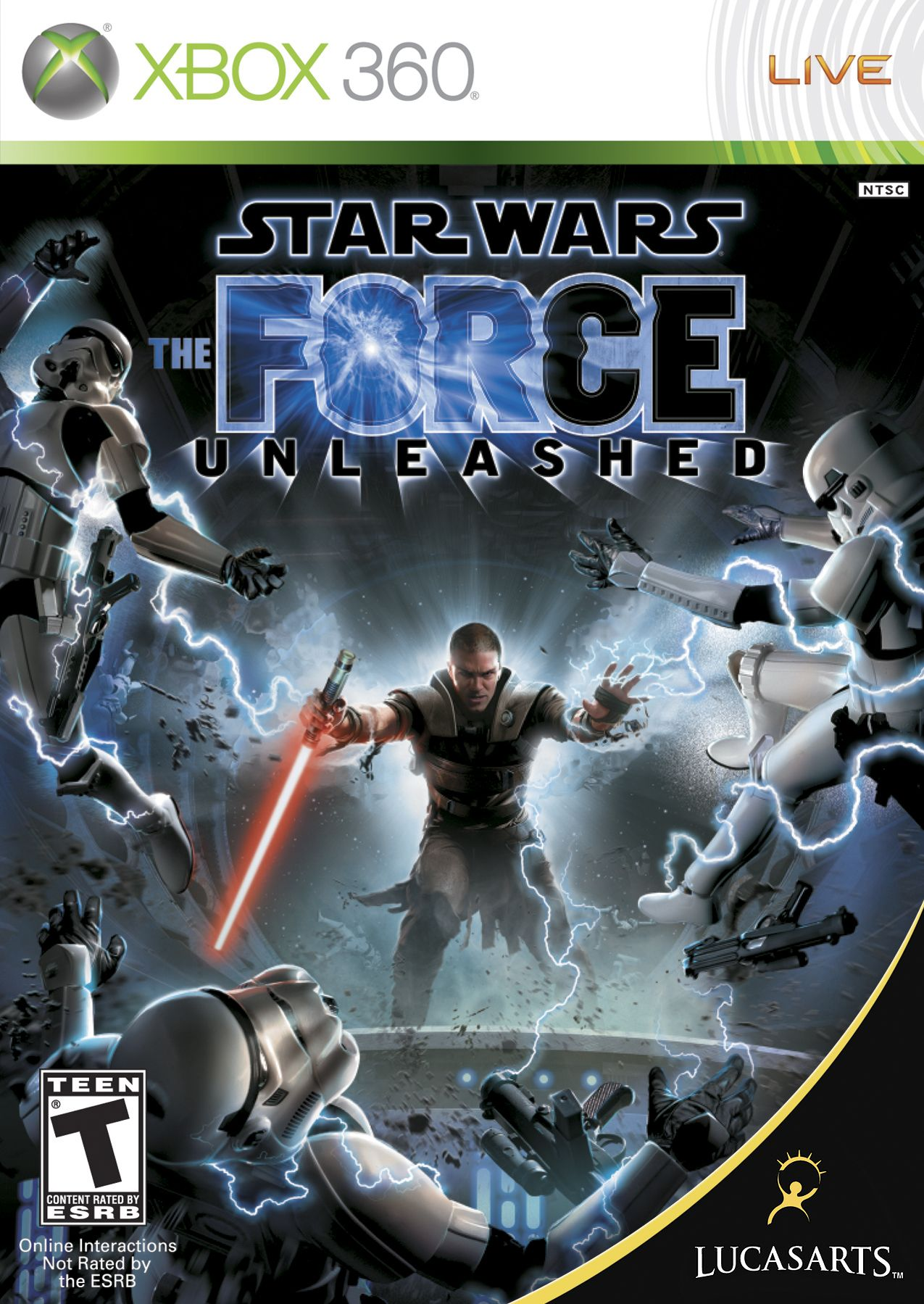 Swtfu Xbox360 Front Jpg 1 275 1 799 Pixels Star Wars Video Games Star Wars Games The Force Unleashed