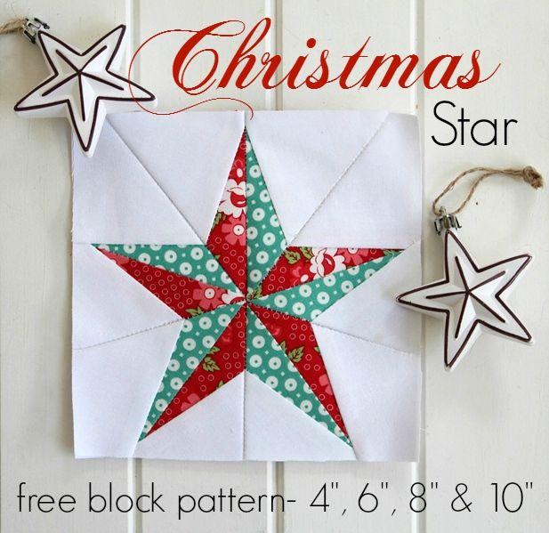 Threadbare Creations- Free Christmas Star Block Pattern   Sewing ...