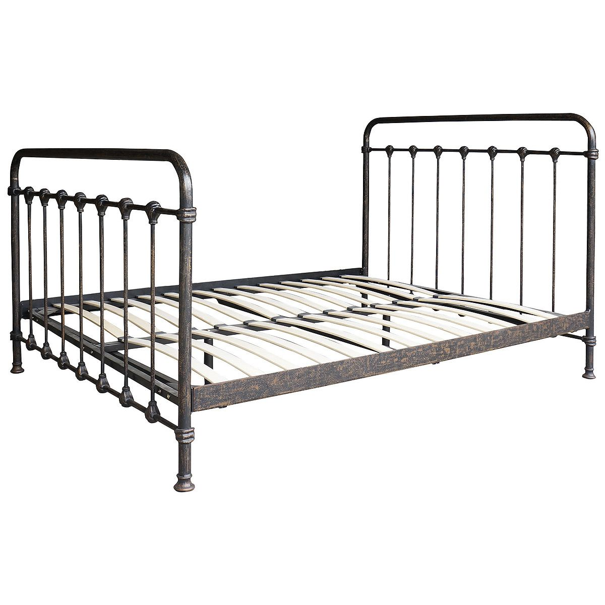 kingsley vintage black iron queen platform bed frame redesigning metal queen bed frame sophisticatedly bedroom double ikea how to assemble directions - Metal Platform Bed Frame Queen