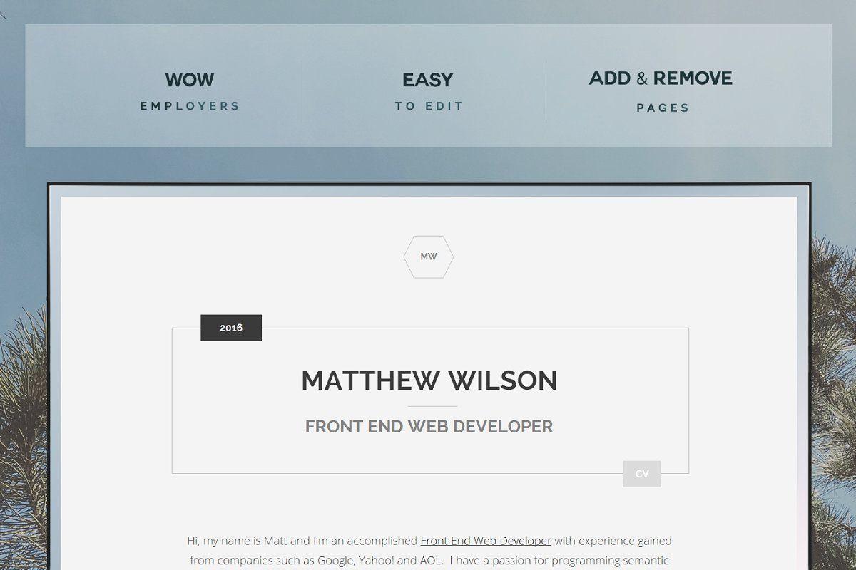 Web Developer Cv Technical Resume Web Development Web Developer Cv Resume Design Template
