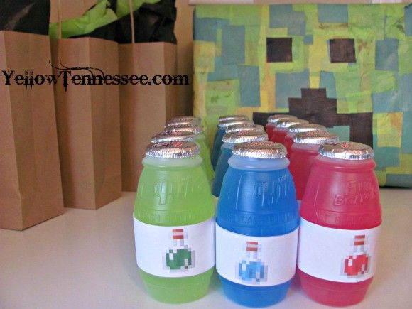 DIY Decorations for a Minecraft Party Free minecraft printables