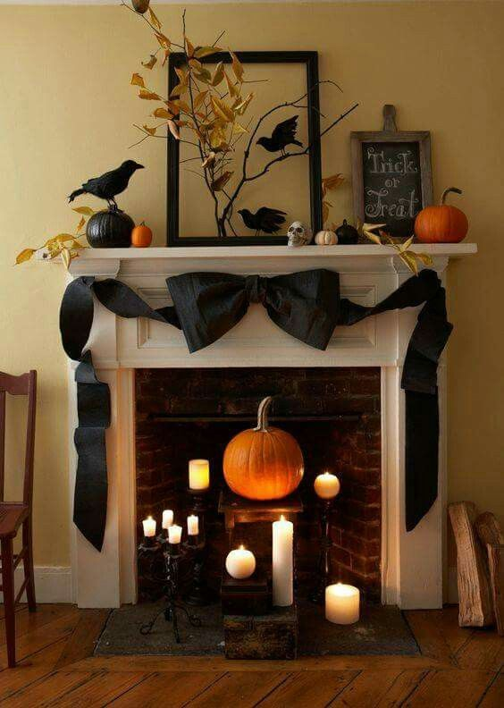 Halloween mantle design ✖This is Halloween✖ in 2018 Pinterest