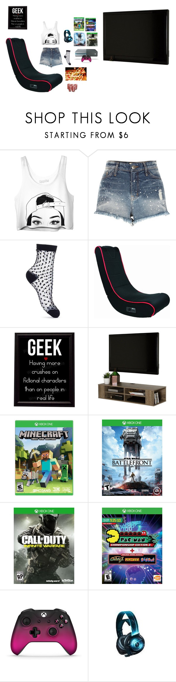 """""""Girl gamer"""" by dance4ever1222 ❤ liked on Polyvore featuring River Island, Miss Selfridge, South Shore and INC International Concepts"""