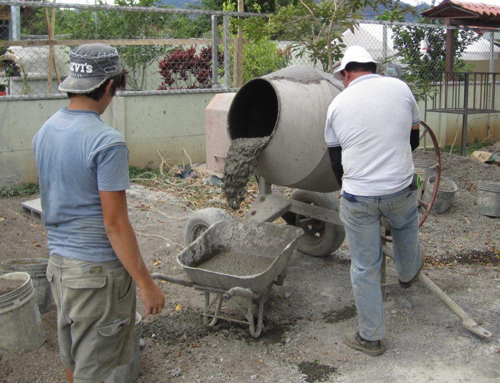 как изготовить бетон в домашних условиях