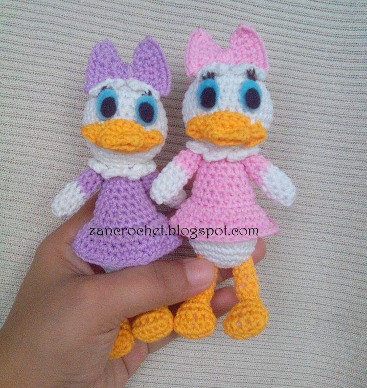 Free amigurumi Daisy Duck - Amigurumi Donald and Daisy is one of my ...