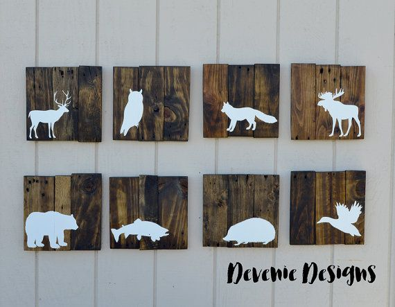Woodland animals reclaimed wood 10x10 set woodland for 10x10 kids room