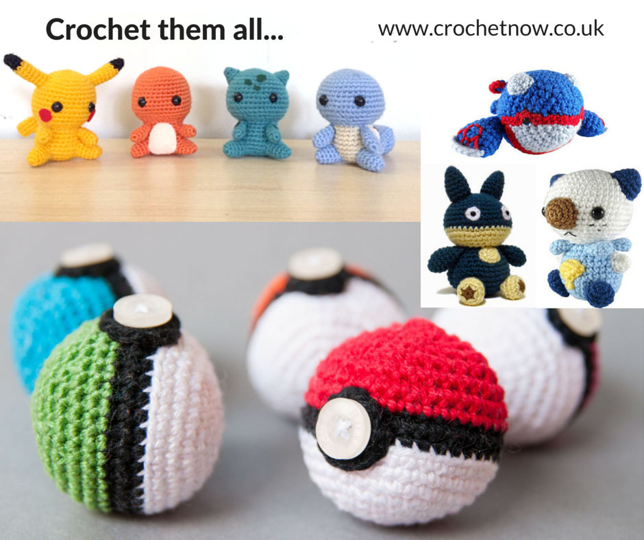 Crochet them all! With the bizarre Pokemon Go craze that\'s hit the ...