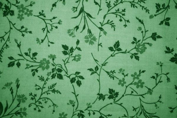 Green Floral Print Fabric Texture - Free High Resolution ...