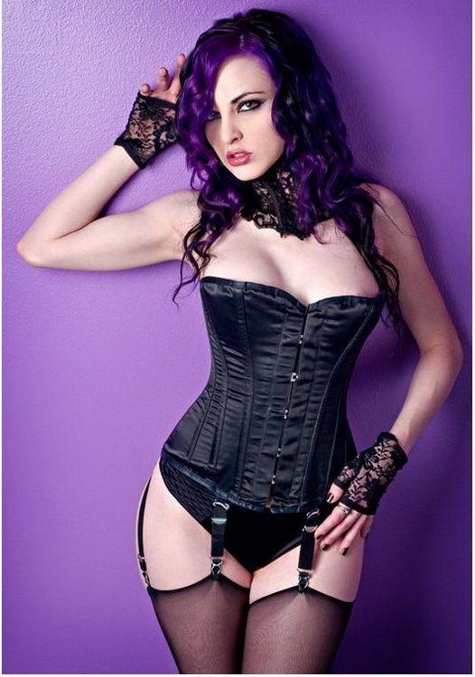 New ladies black sexy gothic lingerie corset elastic body band fantasy cupless