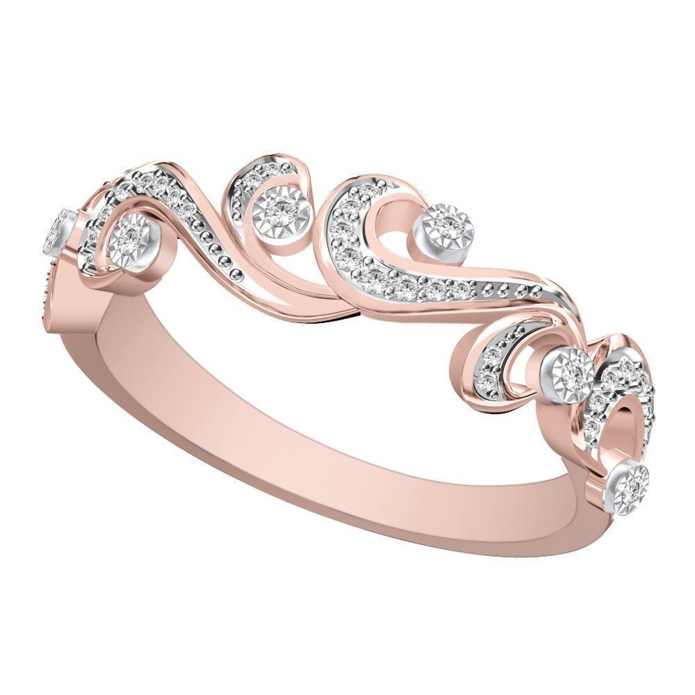 10k Rose Gold Half Eternity Band Certified EW EHS #BandswithoutStones needs to be a full eternity ring