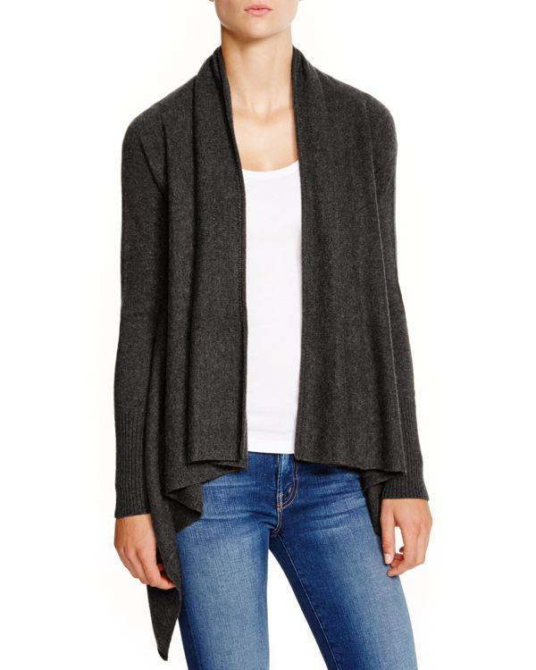 C by Bloomingdale's Cashmere Basic Open Cardigan