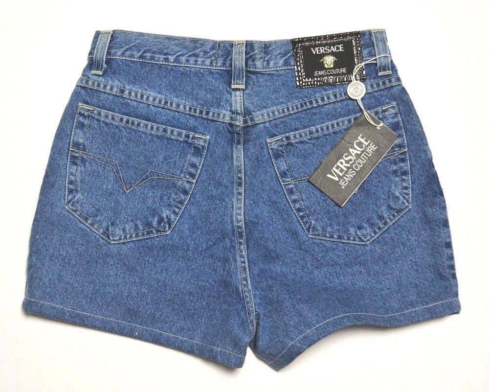 e7c043a6b896 90s VERSACE JEANS COUTURE High Waist Shorts Medusa  vintage  versace   summer  jeans  denim  rawcotton  vintagedenim  logo  medusa  designer   luxury ...