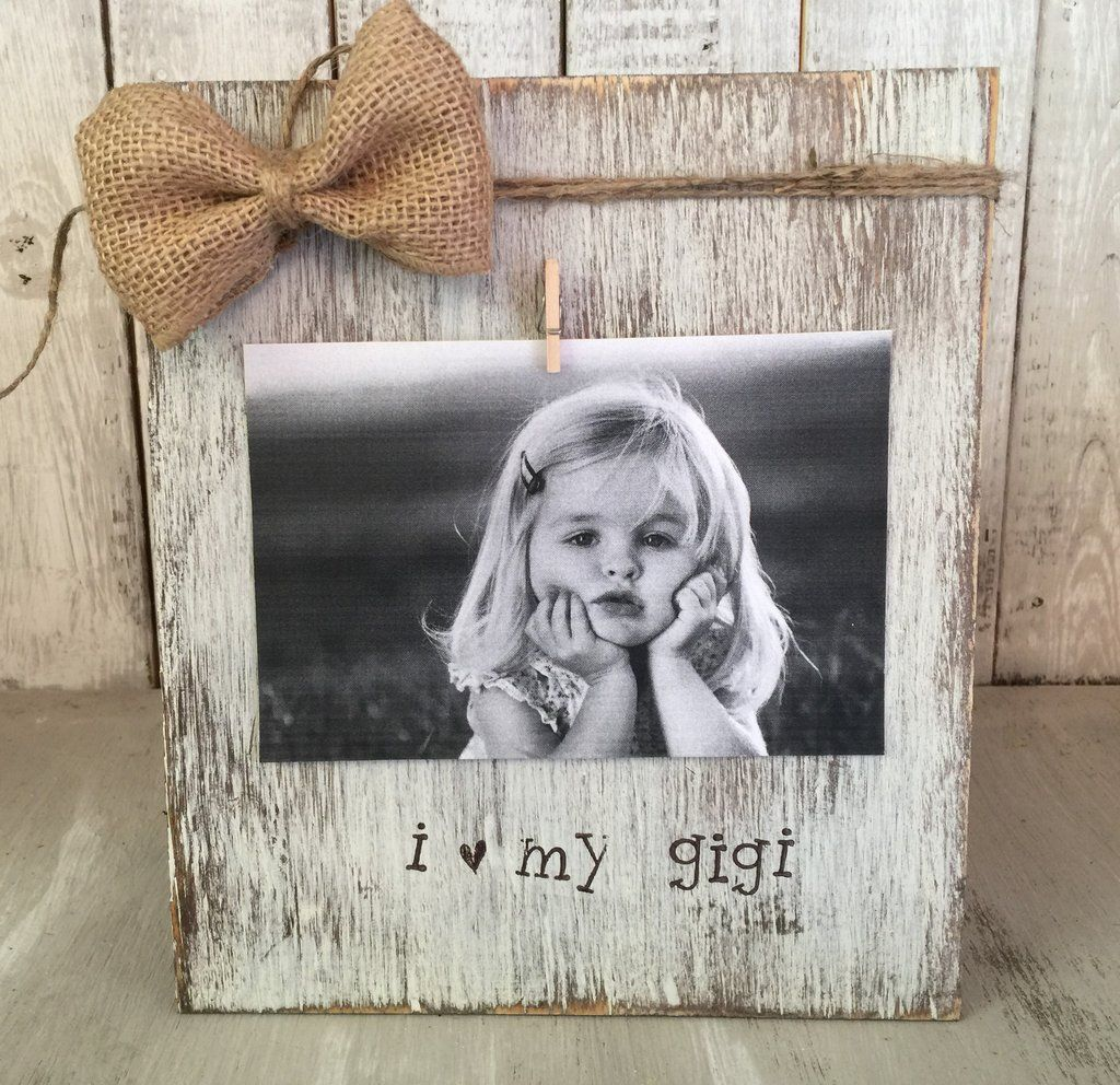 Grandmother Picture Frame / Personalized Rustic Picture Frame ...