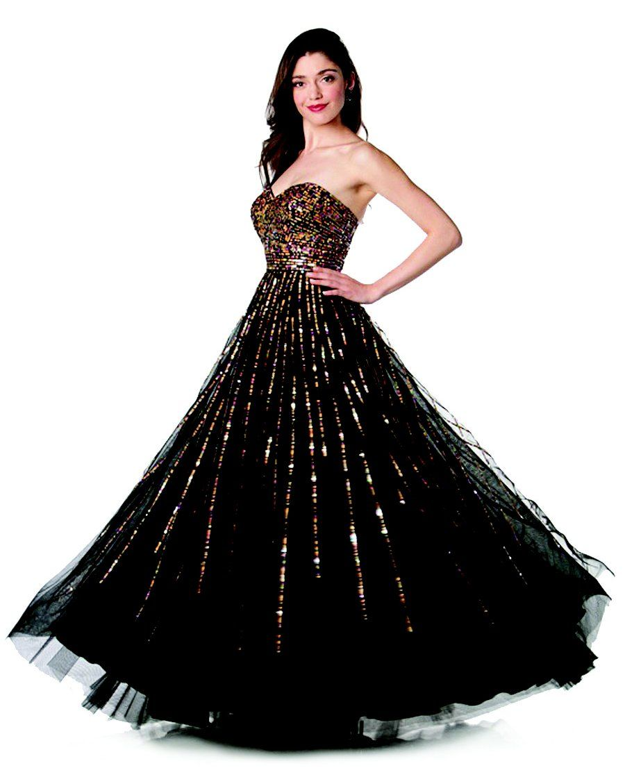 ON SPECIAL LIMITED STOCK - Black Ball Gown Strapless Sweetheart ...