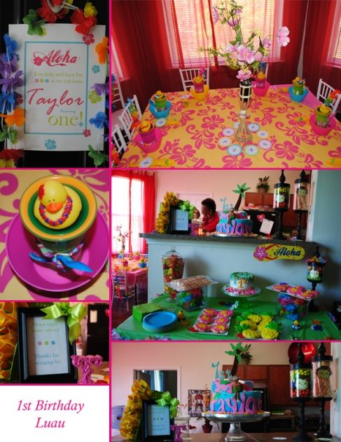 1st Birthday Luau Addisyns Beach Party Pinterest Birthdays