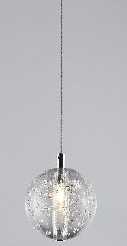 Avivo G4 1 5 Watt Led Bubbles Solid Clear Glass Ball Pendant Light