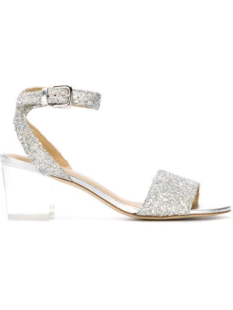 STUART WEITZMAN 'Blonde Maxi Glitter' Anklet Sandals. #stuartweitzman #shoes #sandals