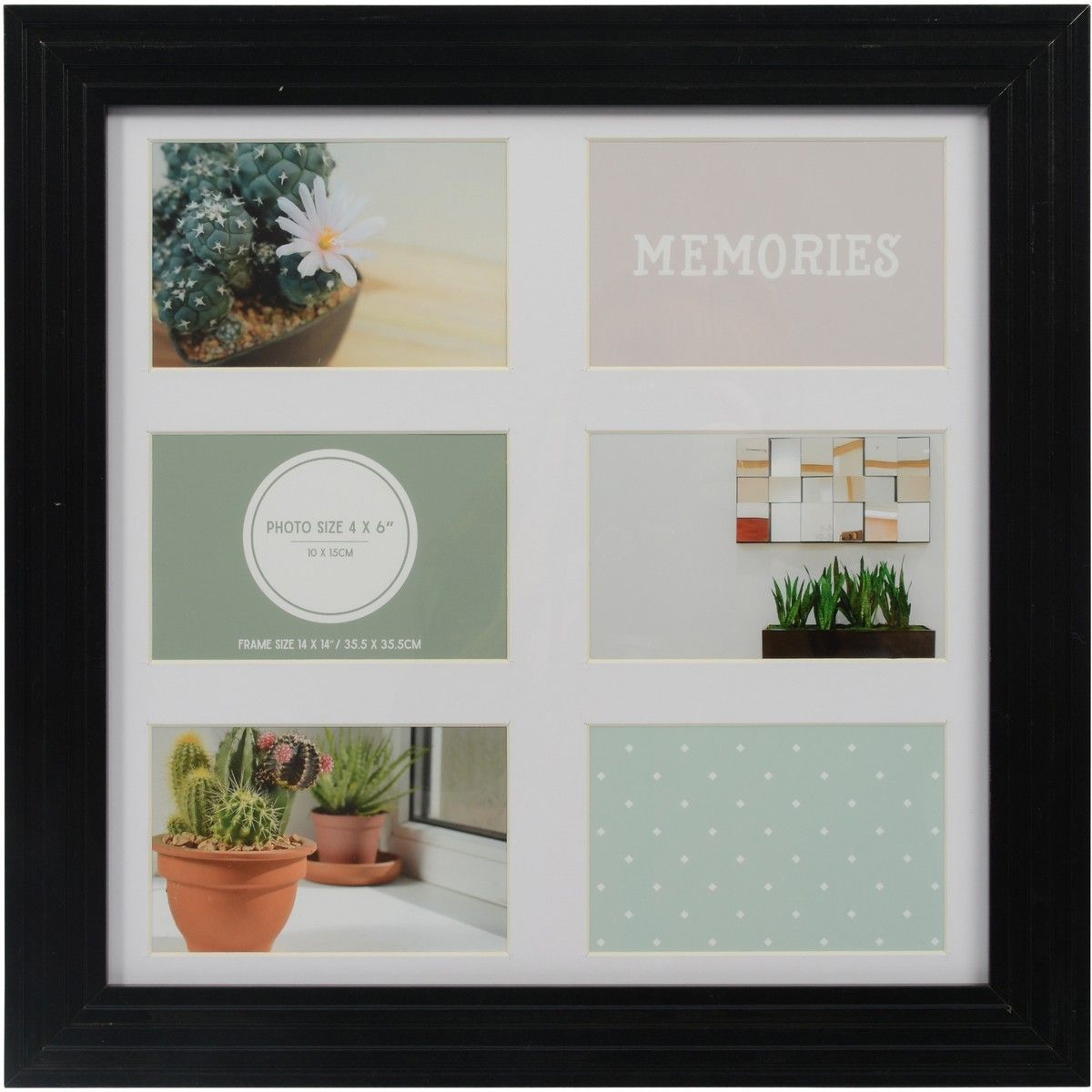 Design House Memories Photo Frame With 6 Openings Black Photo Frame Frame Photo Memories