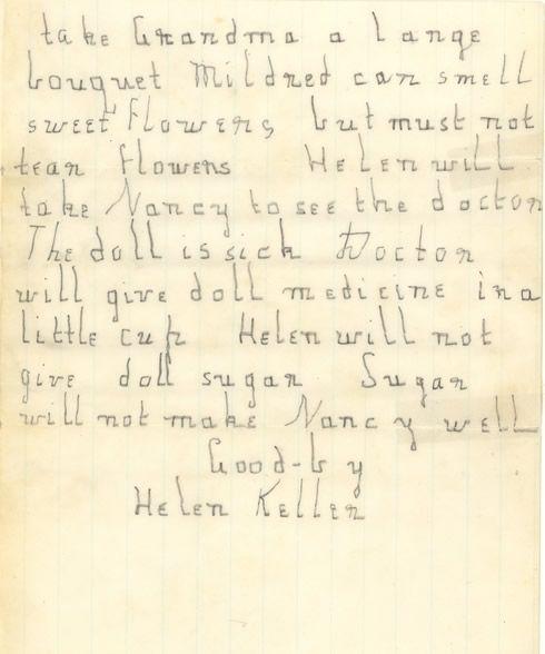 hellen keller s letter print font handwritten  helen keller essay helen keller essays and papers