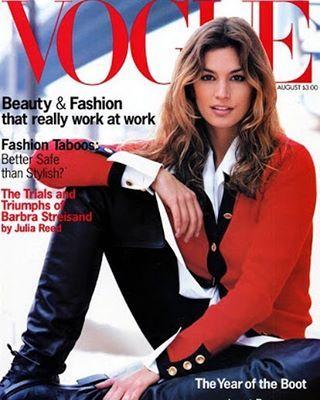 August 1993 #cindycrawford #vogue #voguemagazine #magazinecover #magazinecovers #90ssupermodels #august1993