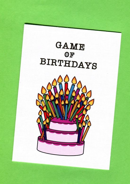 Game of Birthdays Game of Thrones Card #gameofthrones