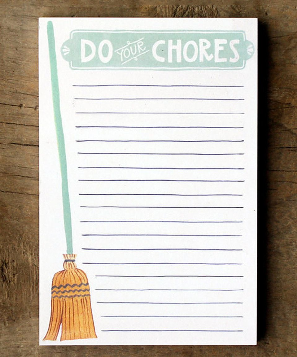 Another great find on #zulily! 'Do Your Chores' Notepad by 1canoe2  #zulilyfinds